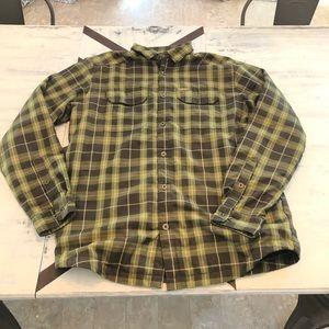 Columbia fleece lined flannel jacket